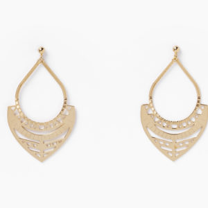 Chic Alors Paris ! - Name: Ohrringe Django Go Go Paradise - Material: Messing vergoldet mit fein Gold 24k.